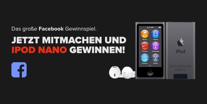 Facebook Gewinnspiel: iPod Nano 7G
