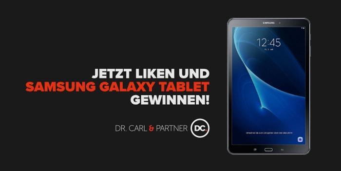 Facebook Gewinnspiel: Samsung Galaxy Tab A T580