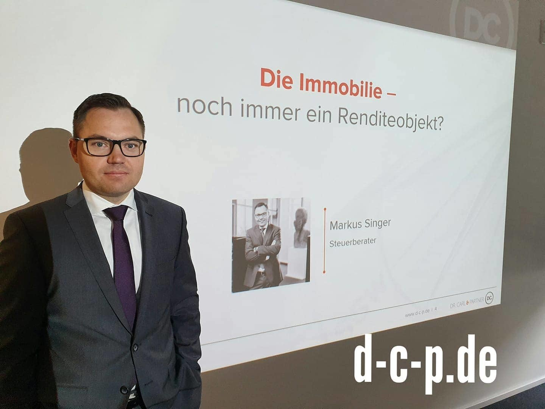 Gestern referierte unser Partner, Herr Steuerberater Markus Singer, zum Thema &q...
