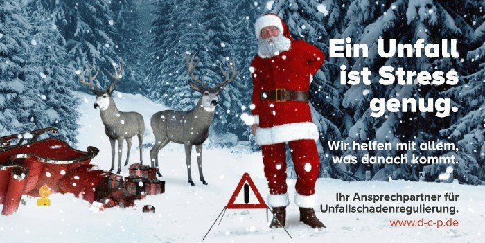 Winterzeit - Unfallzeit! Wir wünschen Ihnen eine stets unfallfreie Zeit, und fa...