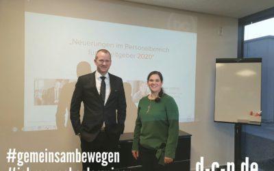 Jahrewechselseminar 2020 mit unserer Leiterin Lohn- und Finanzbuchführung, Frau ...